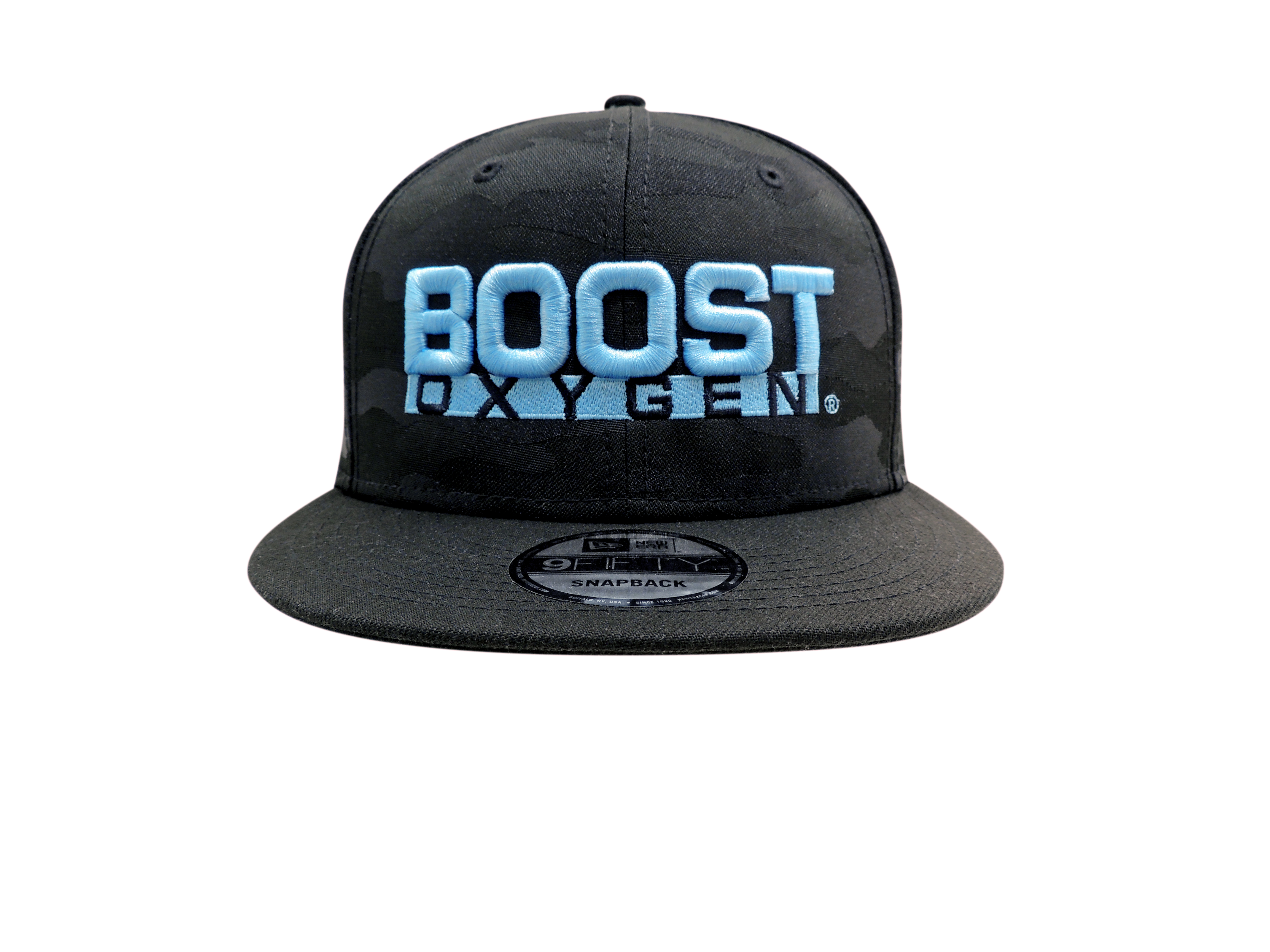 Boost Oxygen Cap - Black Camo/Blue